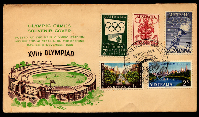Melbourne 1956 Olympics Stamps Cover