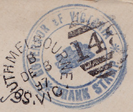 Victorian Government Frank Stamp