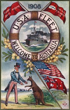 American Great White Fleet ..  AUSTRALIAN POSTAL STAMP COVERS .. FDC .. POSTAL HISTORY .. POSTAL STATIONERY